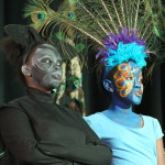 The bat, Mang, and the peacock, Mor, had their say about who should be next in line to the throne. (Zinhle Masilela, Grade 9; Noluthando Mampuru, Grade 7)